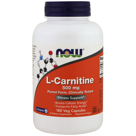 NOW Foods L-Carnitine - 500mg (180 VegCaps)