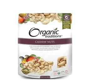 Organic Traditions Cashew Nuts 454g