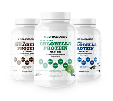 Schinoussa All-In-One Fermented Chlorella Protein - Vegan 840g