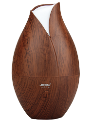 NOW Foods Faux Wood Ultrasonic Essential Oil Diffuser