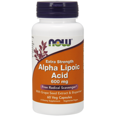NOW Foods Alpha Lipoic Acid 600mg (60 VegCaps)