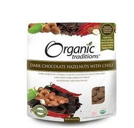 Organic Traditions Dark Chocolate Hazelnuts w/ Chili 227g