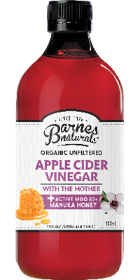 Barnes Naturals Apple Cider Vinegar with Manuka Honey (500ml)