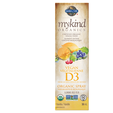 mykind Organics - Vegan Vitamin D3 Organic Spray (Vanilla) - 58ml