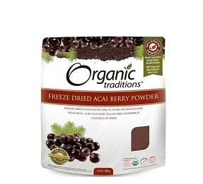 Organic Traditions Freeze Dried Acai Powder 100g
