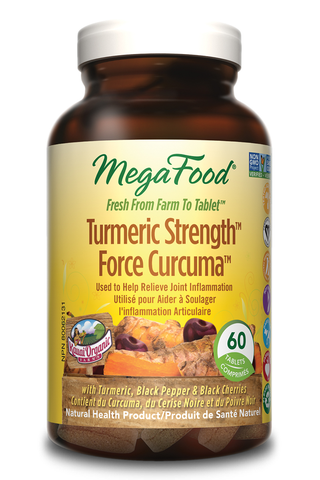 MegaFood Turmeric Strength for Whole Body (60 Tablets)