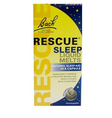 Bach Rescue Sleep Night Liquid Melts (alcohol free) 28 Caps
