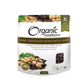 Organic Traditions Dark Chocolate Sacha Inchi Seeds 150g