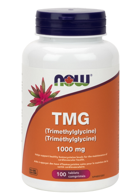 NOW Foods TMG (Trimethylglycine) 1000 mg (100 Tablets)