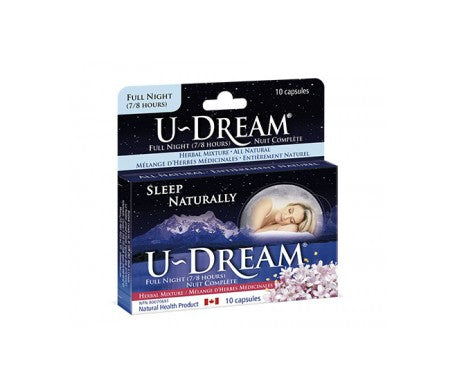 U-Dream Sleep Naturally Full Nite Formula (10 Caps)