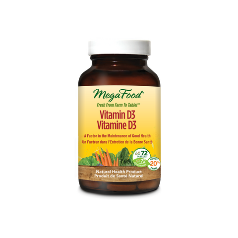 MegaFood Vitamin D-3 1000 IU (72 Tablets)