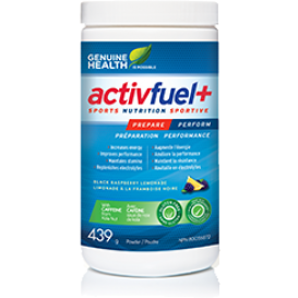 Genuine Health activfuel+ (black raspberry lemonade) 439g