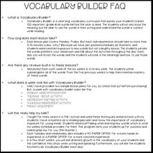 3rd Grade Vocabulary Curriculum