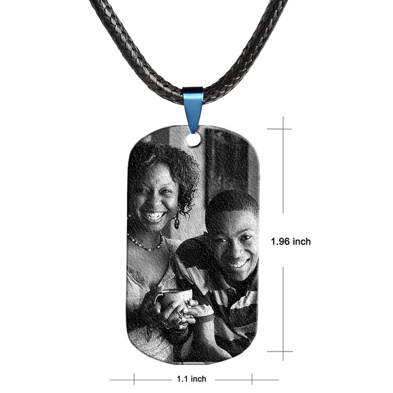 MOM TO SON - Personalized Image Necklace - Key Chains