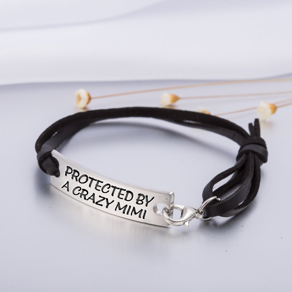 PROTECTED BY A CRAZY MIMI STAMPED BRACELET