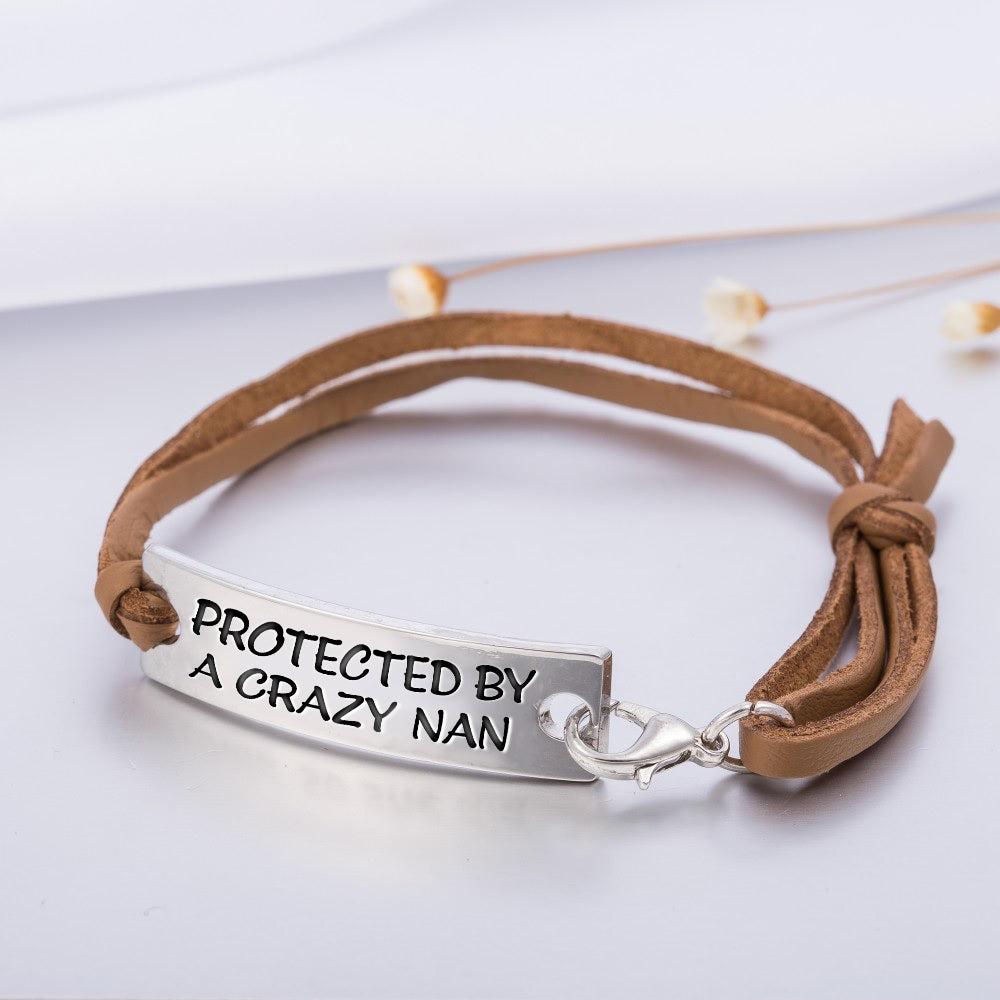 PROTECTED BY A CRAZY NAN STAMPED BRACELET