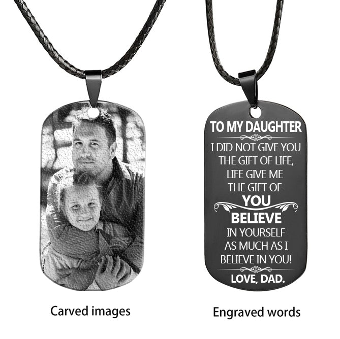DAD TO DAUGHTER - Personalized Image Necklace - Key Chains