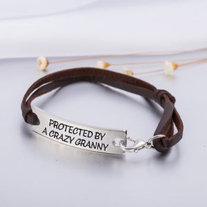 PROTECTED BY A CRAZY GRANNY STAMPED BRACELET