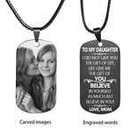 MOM TO DAUGHTER - Personalized Image Necklace - Key Chains