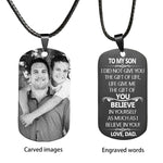 DAD TO SON - Personalized Image Necklace - Key Chains