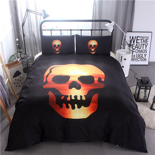 Skull bedding set 3pcs