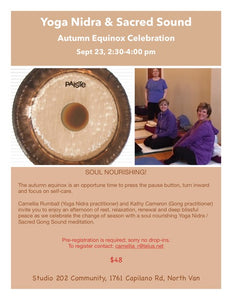 Yoga Nidra & Sacred Sound: Sep 23