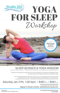 Yoga for Sleep: Jan 27th