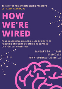 How We're Wired - Understanding our Nervous System: Jan 26