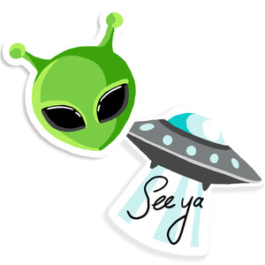 Alien Sticker Set