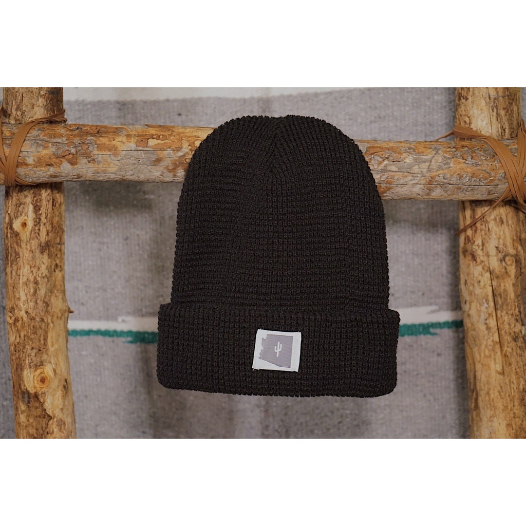 The State Line Waffle Knit Beanie - Copper Revival
