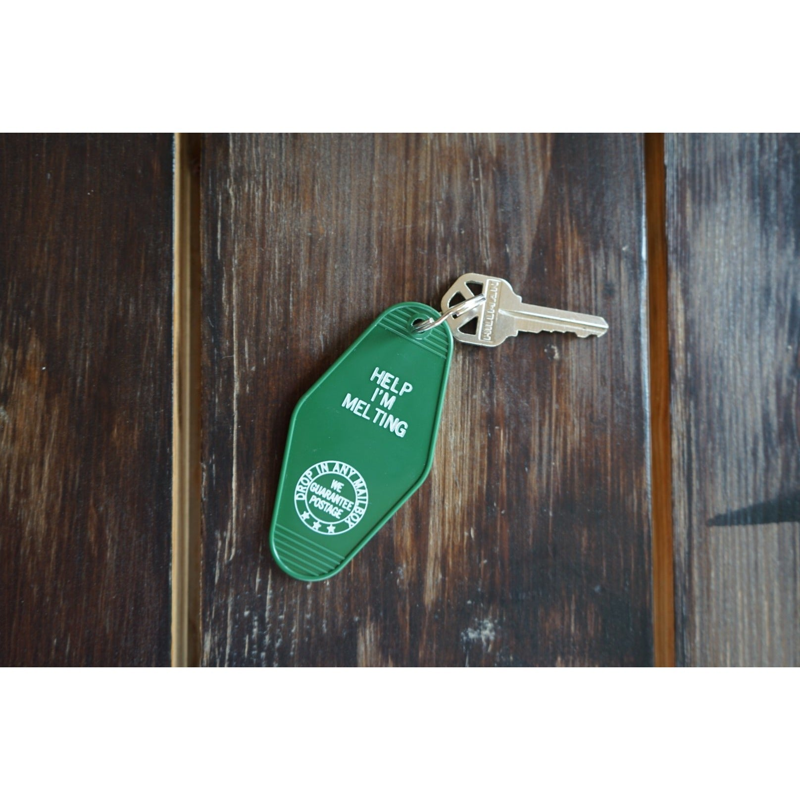 """Help I'm Melting"" Hotel Key Tag - Copper Revival"