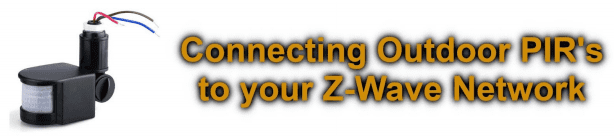How to connect existing PIR sensors into your Z-wave network.