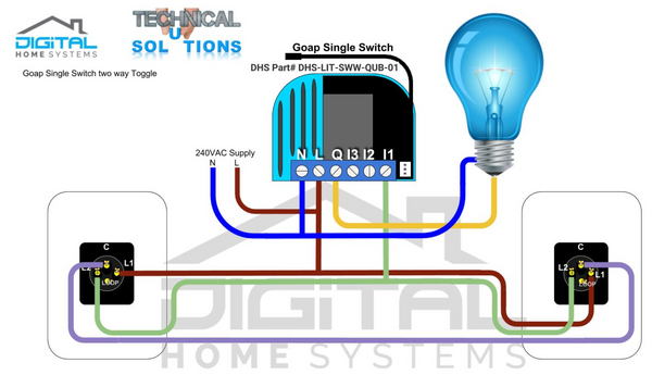 Smart Home 2 Way and 3 Way Lighting switch