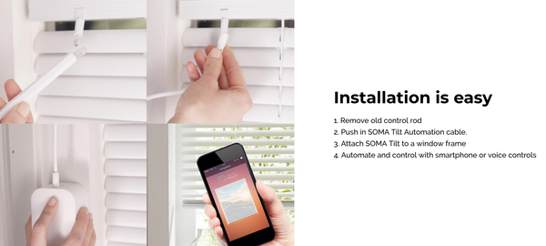Soma Smart Blinds, Tilt blind control iBlind Smart Home Automation products