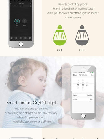 WIFI Smart Triple Switch, Smart Home Tuya Smart Life Glass