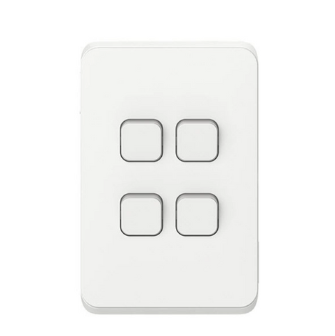 Clipsal Iconic Quad Switch Plate