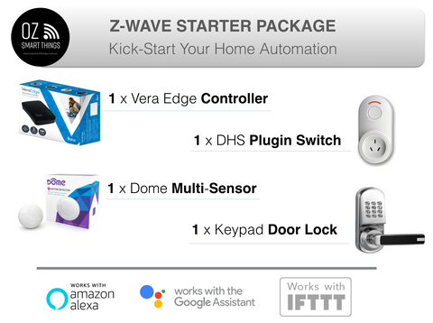 Smart Home Starter Package, Z-wave Devices Kit for Home Automation All products