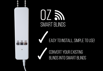 Oz Smart Blinds Open blinds with Alexa or Google, iBlinds Smart Shades