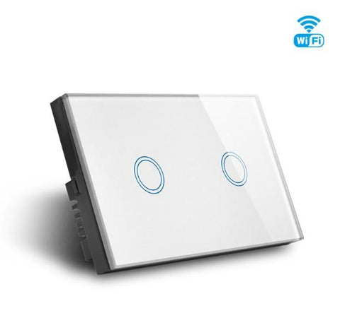 WIFI Smart 2 Gang Double Switch, Smart Home Glass Touch 2g