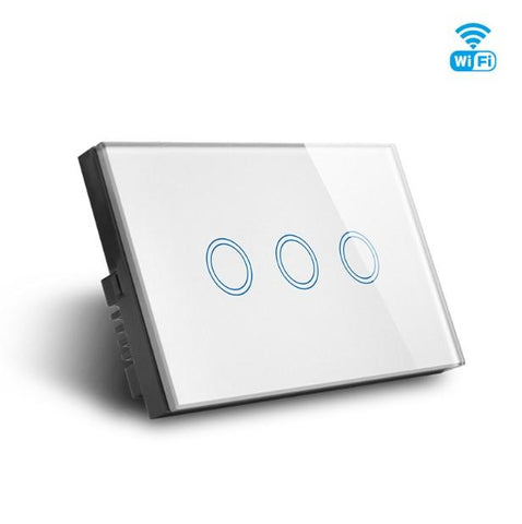 WIFI Smart 3 Gang Triple Switch, Smart Home Glass Touch 3g