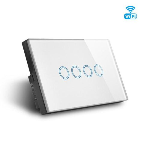 WIFI Smart 4 Gang Quad Switch, Smart Home Glass Touch 4g