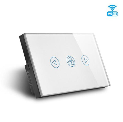 WIFI Smart Fan Switch, Smart Home Glass Touch