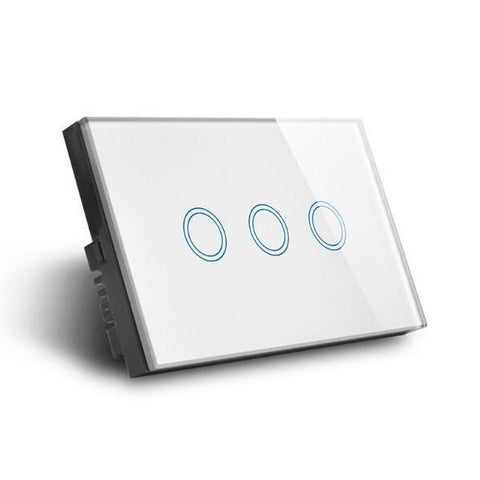 RF Smart 3 Gang Switch, Smart Home Broadlink RM Pro Glass Touch 3g Triple