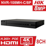 HikVision NVR 8ch Video Recorder Smart Home Security 8 channel device