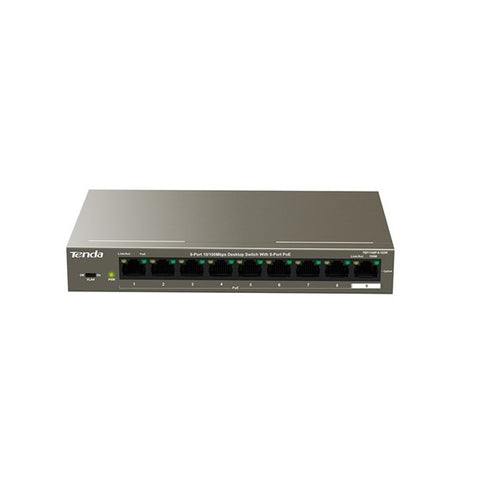 Tenda 8-way POE switch for Smart Home IP cameras and Intercoms.