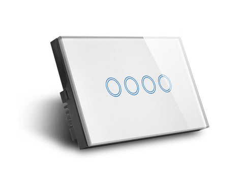Zigbee Quad Light Switch Smart Home Automation Australia Wall 4 Gang