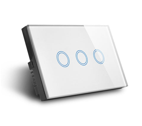 Zigbee Triple Light Switch Smart Home Automation Australia Wall 3 Gang