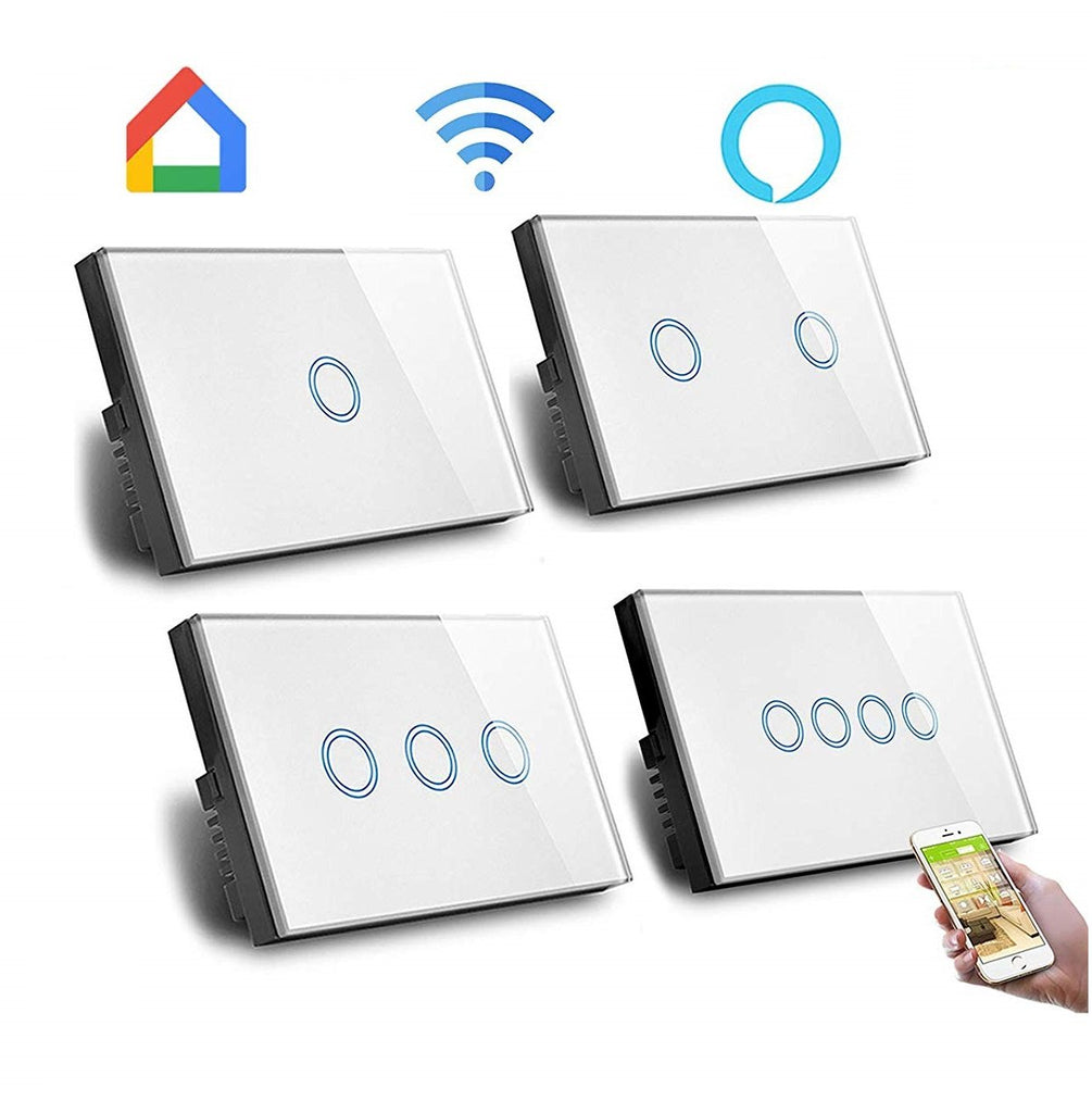 Wifi Smart Dimmer Switch Smart Home Tuya Smart Life Glass