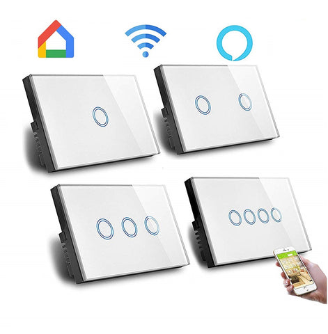 RF Smart 3 Gang Switch, Smart Home Broadlink RM Pro Glass Touch 3g