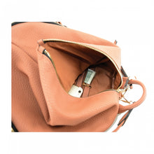 Cameleon Concealed Aurora Backpack Purse Cognac